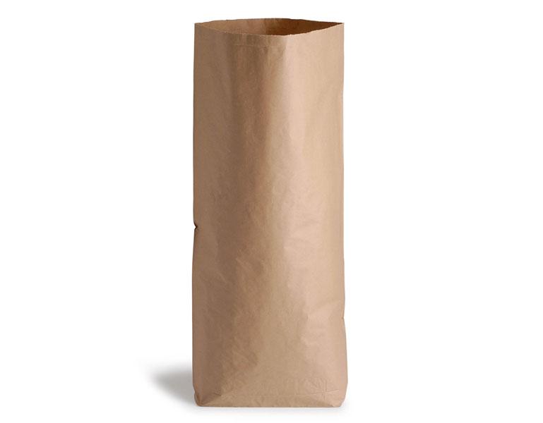Saco de papel kraft de una capa