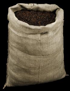 Saco de Yute Usado con Cafe