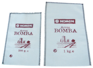 Sacos de algodón de 500 gr y 1 Kg para Arroz