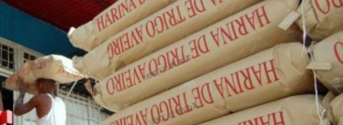 Saco de papel con harina